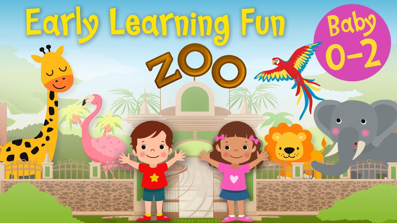 A Day At The Zoo ️🦁🐘 Early Learning Fun #35   Animals & Sounds   Educational Series
