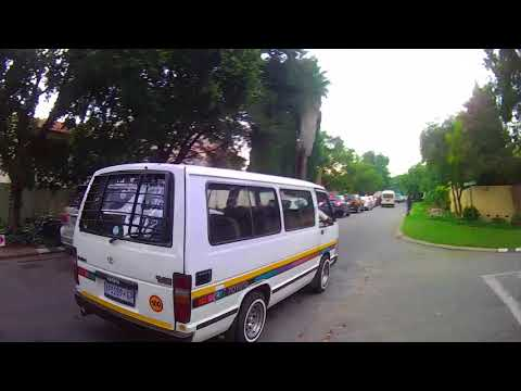 10/2/2016 - Taxi drives down wrong side of road - Rivonia, Johannesburg, South Africa