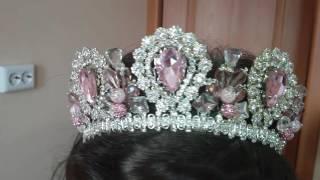 Моя розовая корона ручной работы