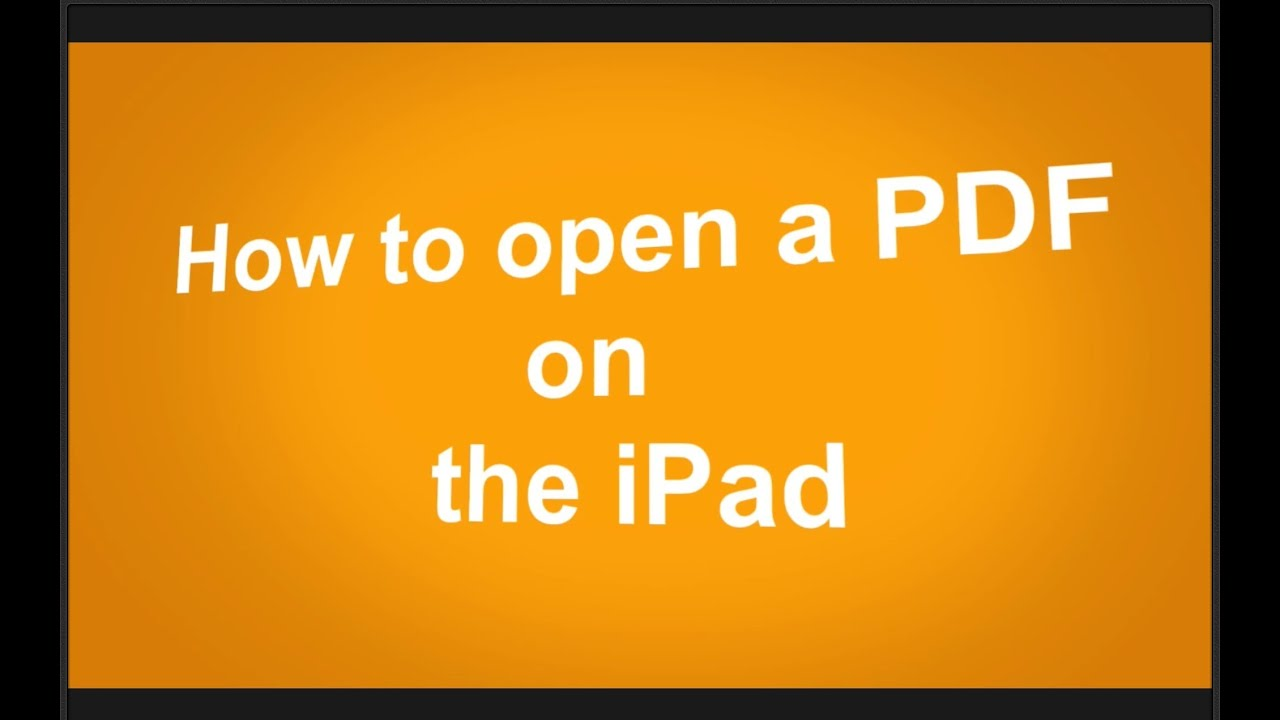 How To Open PDF On iPad from Mail