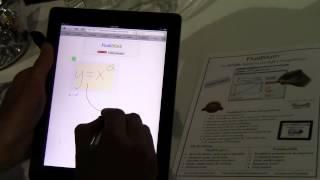 iPad Graphing Calculator - FluidMath on an iPad