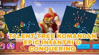 Talent tree Eulji, Sun Tzu, Osman, & Scipio - Commander Epic review | Rise of Kingdoms Indonesia