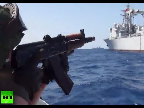 RAW: Russia, China neutralize terrorists in Mediterranean drills