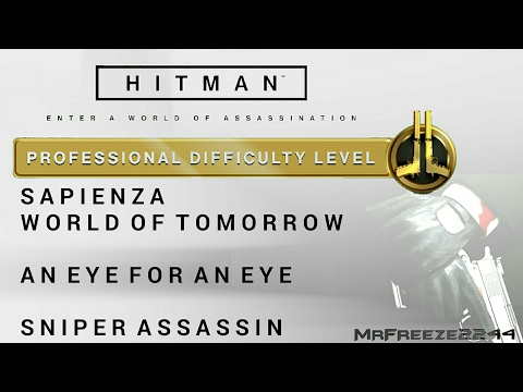 HITMAN - Sapienza - An Eye For An Eye & Sniper Assassin/Bath Robe Only - Professional Difficulty