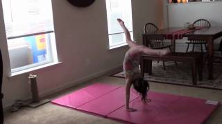 Annie the Gymnast-Back Walkover