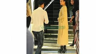 Cristiano ronaldo y Georgina rodríguez en centro comercial de Milan