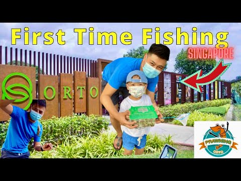 Foreigner First Time Fishing and Prawning Experience | Singapore Fishing | Orto Singapore