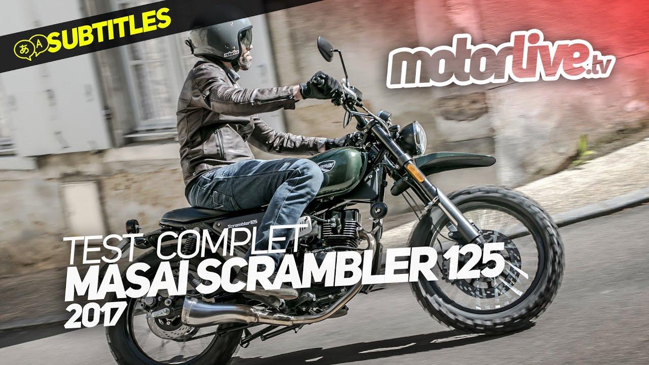 masai scrambler 125 test complet subtitles youtube. Black Bedroom Furniture Sets. Home Design Ideas