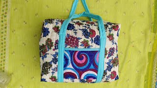 नए डिज़ाइन का big बैग बनाना ज़रूर सीखें ll market bag ll shopping bag ll lunch bag ll shoulder bag
