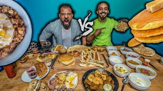 تحدي فطور عربي VS فطور غربي 🥞 Arabic Breakfast VS Western Breaskfast