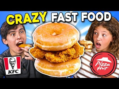 Generations React To CRAZY Fast Food KFC Donut Sandwich Pizza Hut Cheez It Pizza