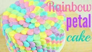 Rainbow Buttercream Petal Cake - Cake Style
