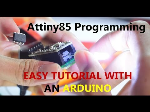 How to Program The ATtiny 85 with an Arduino Pro Mini and create a shield  || Shrink an Arduino