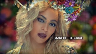 BEYONCE Inspired - Hymn For The Weekend Makeup Tutorial