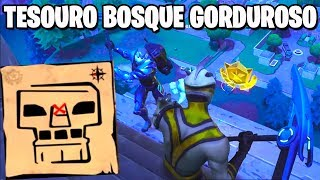 MAPA DO TESOURO NO BOSQUE GORDUROSO - Fortnite Desafios Semana 5 (Passe de Batalha 4)