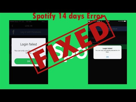 Fix Spotify abroad Error after 14 or 15 days of use || HINDI ||