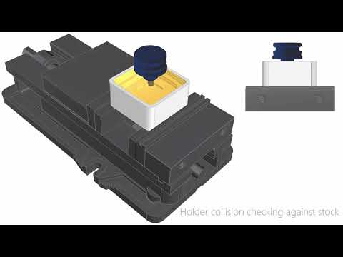 Multi axis roughing - Dynamic holder collision checking against stock