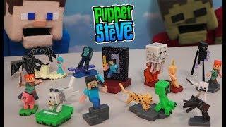 Minecraft Craftables Action Figures Blind Box Series 1 Set RARE Ender Dragon Mattel Unboxing