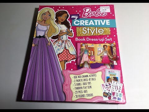 RouxAJ TV: My Barbie Creative Styles Book Dress-up Set