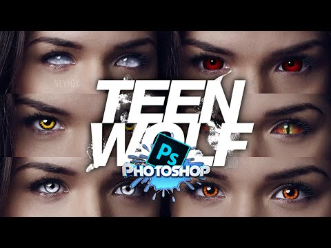 Photoshop Tutorial - How to make Eyes like Teen Wolf [HD]