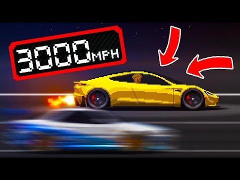 Pixel Car Racer HACKS – Tesla Roadster *3000MPH!*