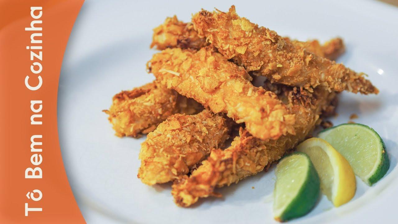 Amado FRANGO CROCANTE - Receita de frango empanado com corn flakes e  EZ21