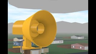 ROBLOX Tornado Siren #27: Federal Signal 500-SH At Dawn County, Alert & Attack, 1080p60