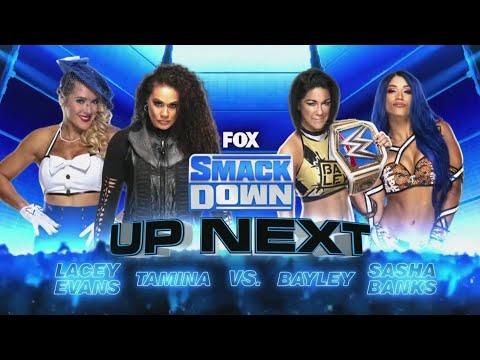 Tamina \u0026 Lacey Evans VS Bayley \u0026 Sasha Banks 2/2