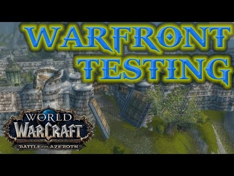 WoW BFA - WARFRONTS Testing live with devs and Q&A Team (World of Warcraft)