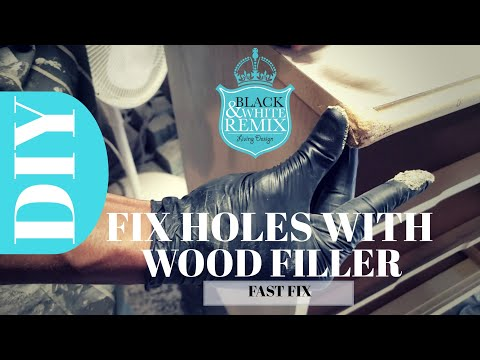 DIY How to Fix furniture holes with wood filler
