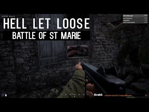 1: Battle of St Marie (Church Fight) | Hell Let Loose Closed Alpha Gameplay