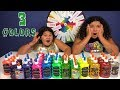 3 3 COLORS OF GLUE SLIME CHALLENGE