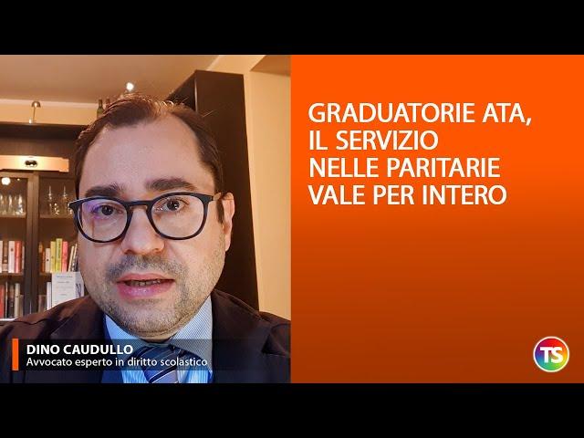 Graduatorie Ata, il servizio nelle paritarie vale per intero