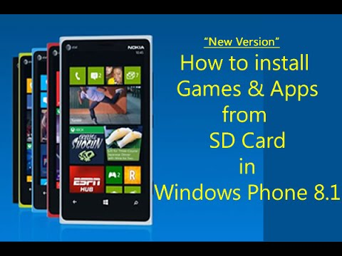 How to install games from SD card in Windows Phone 8.1 for ...