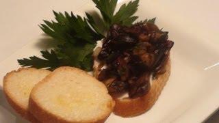 Mushroom Bruschetta - Noreciperequired.com