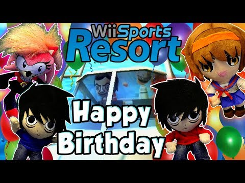 AnimeBroMii's Birthday Gameplay !! Angi & Haruhi Vs Issac & Sonia !! Wii Sport Resorts!!  HD
