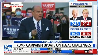 Rudy Incoherent Rant Interrupted to Announce Biden Won Michigan