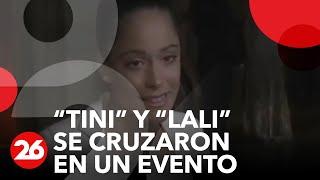 """Canal 26 - """"Tini"""" y """"Lali"""" se cruzaron en un evento."""
