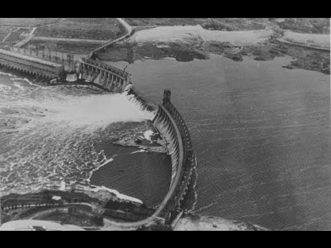 Взорванная Плотина Запорожье