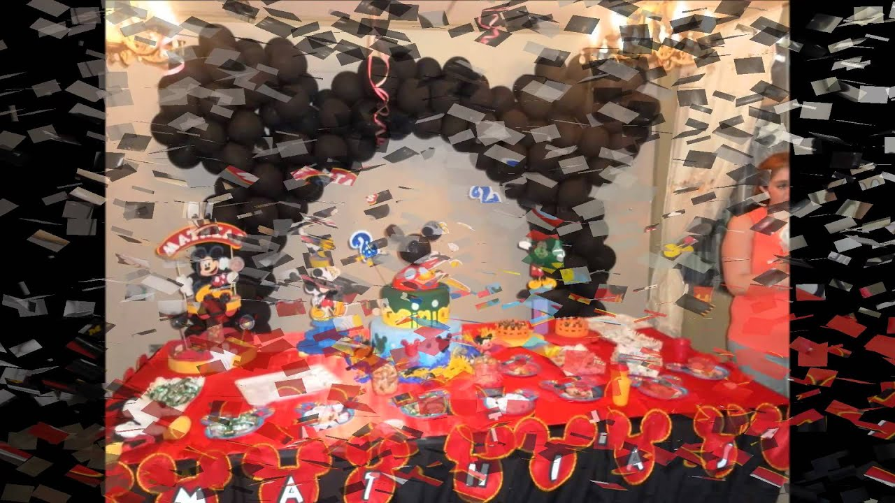 Fiestas infantiles de mickey mouse youtube for Decoracion pared infantil