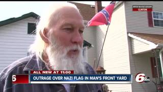 Indianapolis man hangs Nazi flag in front yard: 'I'm a collector'