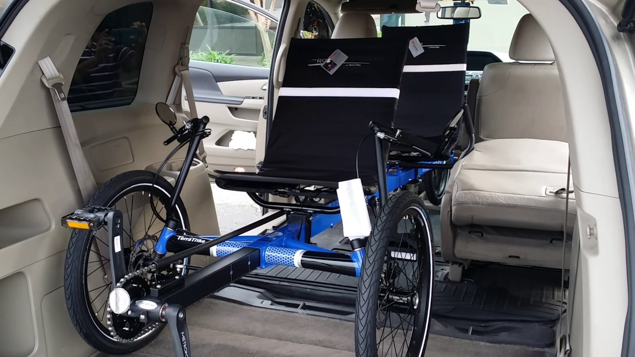 Terratrike Rover Tandem Fitting In A Mini Van Laid Back Cycles