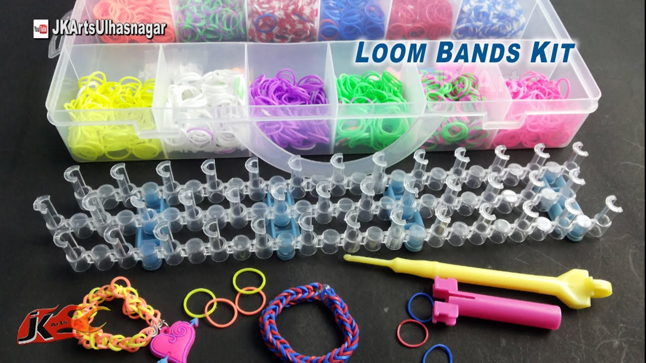 Loom Band Bracelet Making Kit And How To Use Jk Arts 902 Youtube