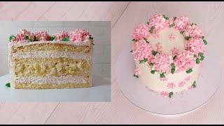 сборка торта ЯБЛОНЕВЫЙ ЦВЕТ Торт с КАРАМЕЛИЗИРОВАННЫМИ ЯБЛОКАМИ и БАНАНОВЫМ КРЕМОМ ОЧЕНЬ ВКУСНЫЙ