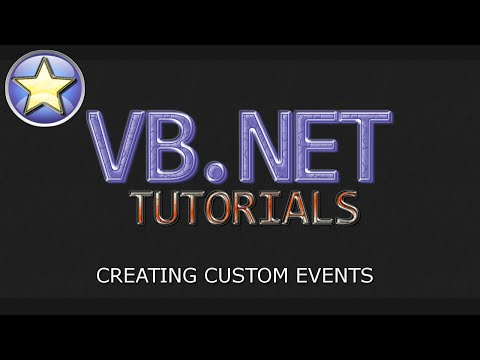 VB.NET Tutorial - Create and Handle Custom Events (Visual Basic.NET)
