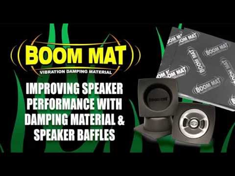 Improving Speaker Performance with Boom Mat Damping Material & Speaker Baffles