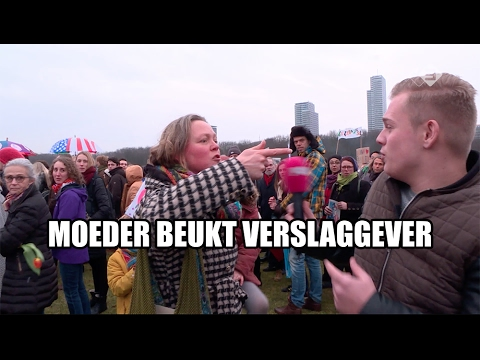 Onrust en agressie bij anti-Trump demo