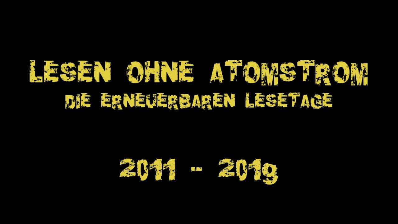 Die Lesen Atomstrom Ohne Erneuerbaren Lesetage MVSUzLpqG