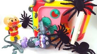 アンパンマン よくばりボックスからクモ トカゲ カエル ヘビ 生き物いっぱい animekids アニメキッズ animation Anpanman Toy thumbnail