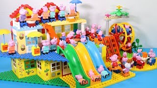 Peppa Pig Lego House Creations With Water Slide Toys For Kids #15